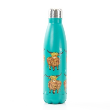 BOTTLE - T09 TEAL HIGHLAND COW