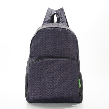 FOLDABLE BACK PACK - B13 BLACK DISRUPTED CUBES