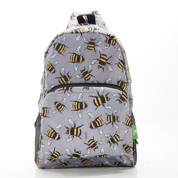FOLDABLE BACK PACK - B28 GREY BEES