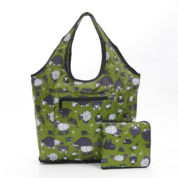 FOLDABLE WEEKEND BAG - F13 GREEN SHEEP