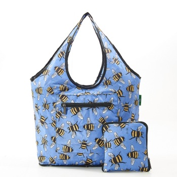 FOLDABLE WEEKEND BAG - F14 BLUE BEES
