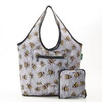FOLDABLE WEEKEND BAG - F14 GREY BEES
