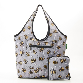 FOLDABLE WEEKEND BAG - F14 GREY BEES