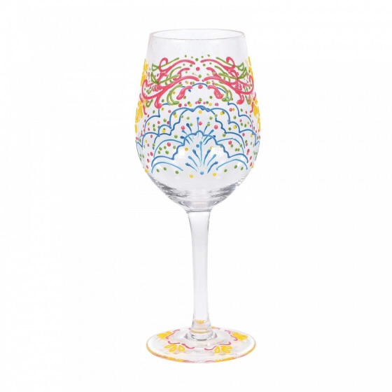 ROSE HENNA WINE GLASS (BOXED)