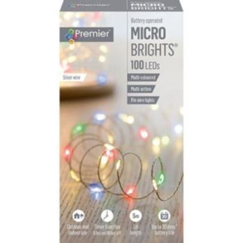 100 MICROBRIGHT LIGHTS WHITE - LB151210 MULTICOLOUR