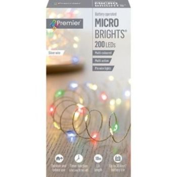 200 MICROBRIGHT LIGHTS MULTICOLOUR - LB151211M
