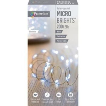 200 MICROBRIGHT LIGHTS WHITE - LB151211W
