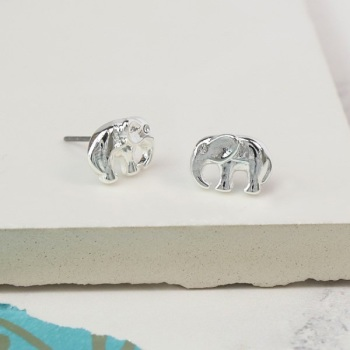 EARRINGS - ELEPHANT SILVER STUD (02960)
