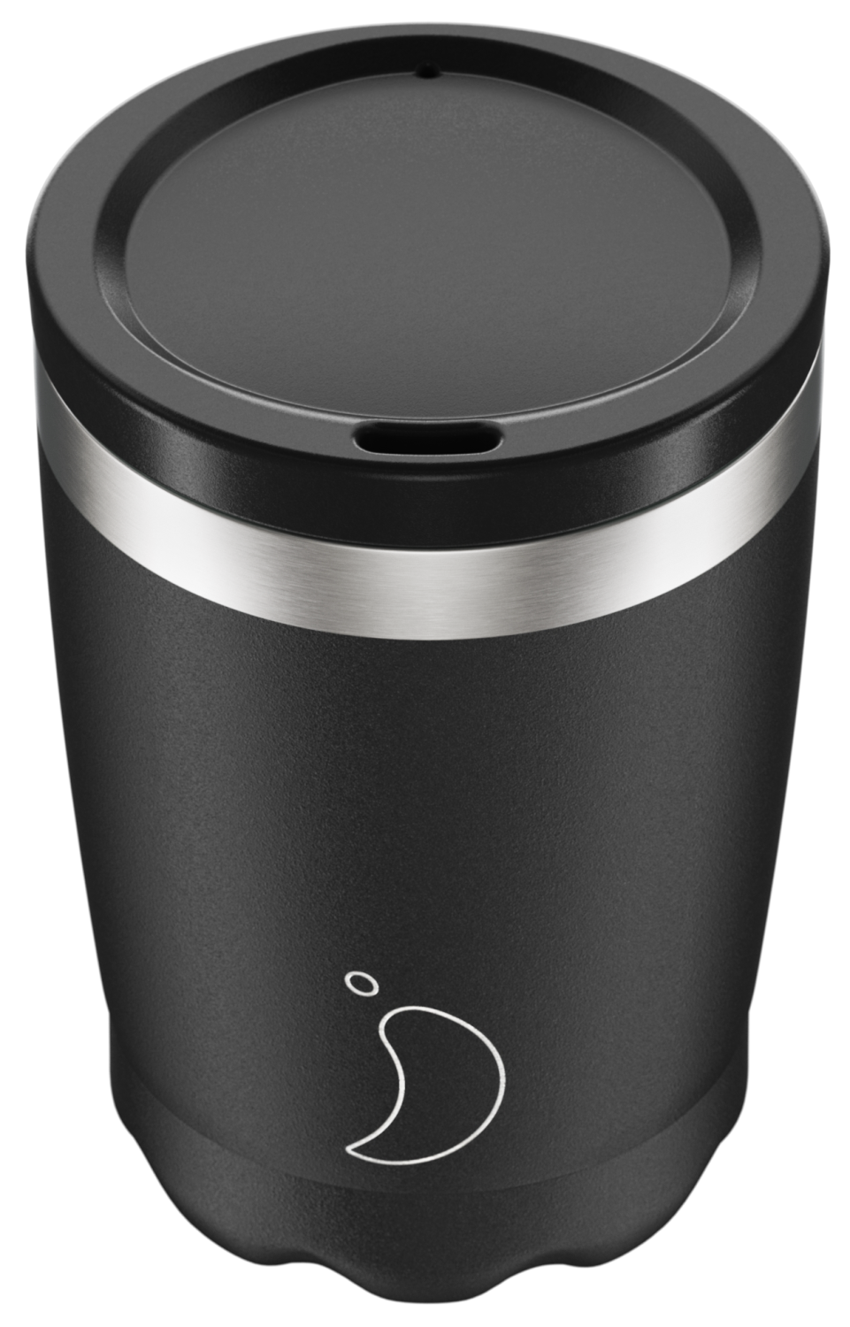 CHILLY'S COFFEE CUP 340ML MONOCHROME BLACK