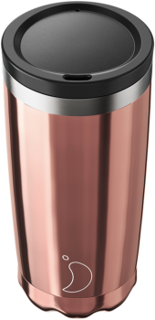 CHILLY'S COFFEE CUP 500ML CHROME ROSE GOLD