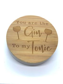 CANDLE & LID - YOU ARE THE GIN TO MY TONIC