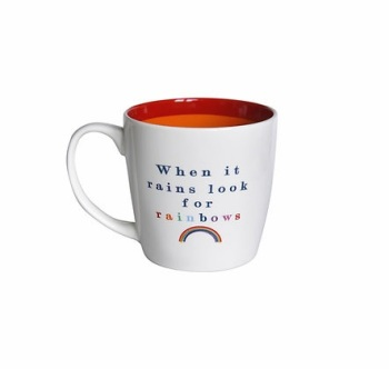 INSIDE OUT MUG - LOOK FOR RAINBOWS (ISO140)