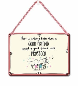 HANGING TIN PLAQUE - PROSECCO PA090