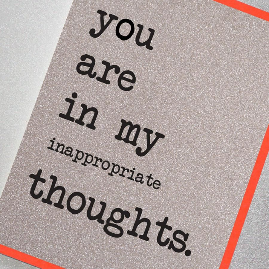 YOU ARE IN MY INAPPROPRIATE THOUGHTS UD37