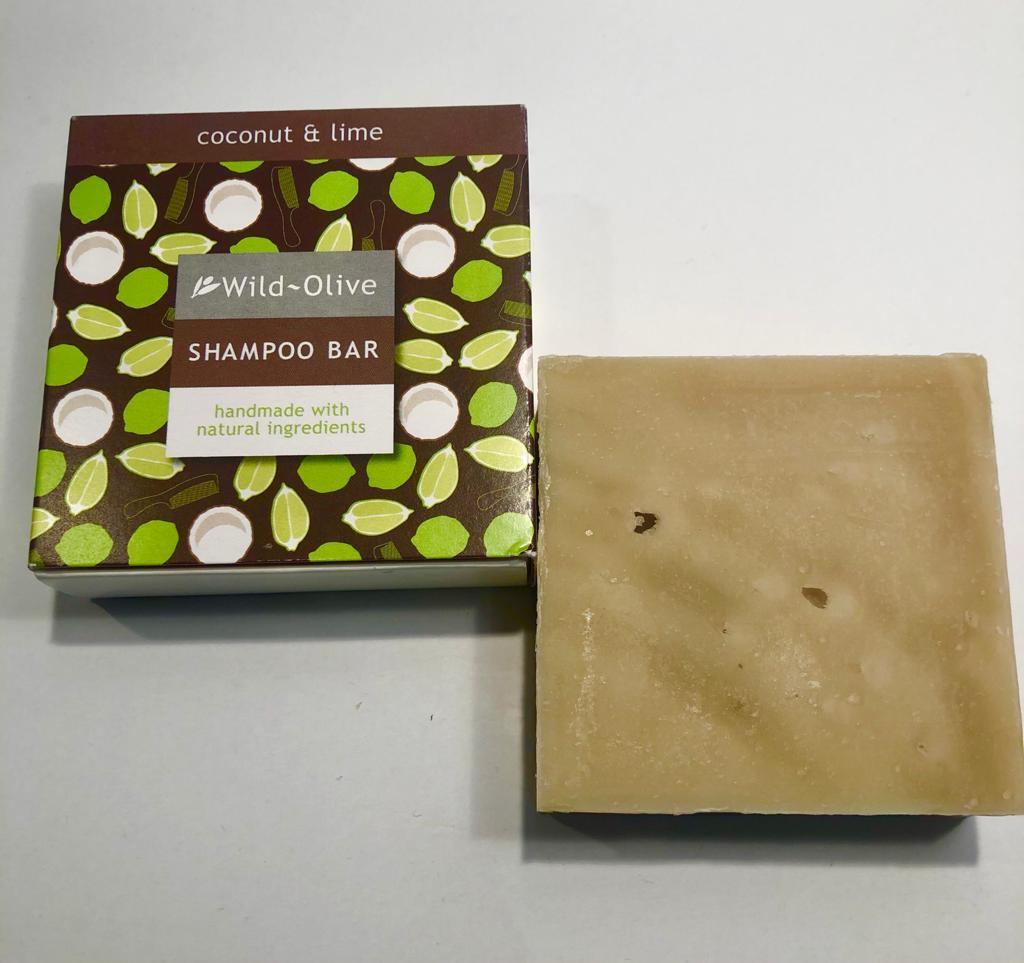 WILD OLIVE - 100G SHAMPOO BAR   COCONUT & LIME
