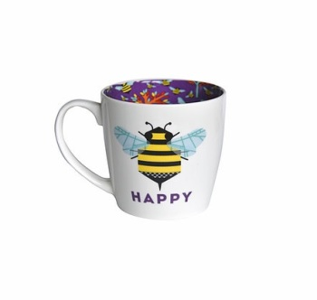INSIDE OUT MUG - BEE HAPPY (ISO146)