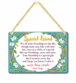 HANGING TIN PLAQUE - SPECIAL FRIEND PA070
