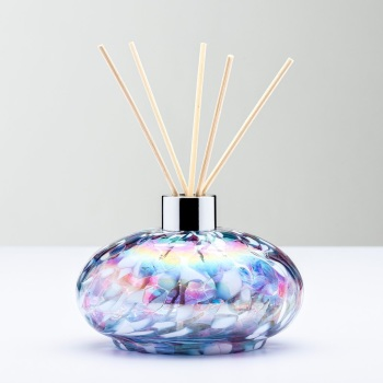REED DIFFUSER BOTTLE - OVAL BLUE & PINK