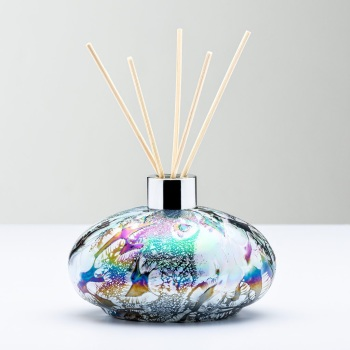 REED DIFFUSER BOTTLE - OVAL PASTEL SILVER