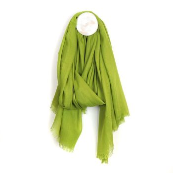 SCARF LIME GREEN 51327