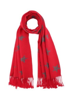 RED - CASHMERE BLEND SCARF/WRAP