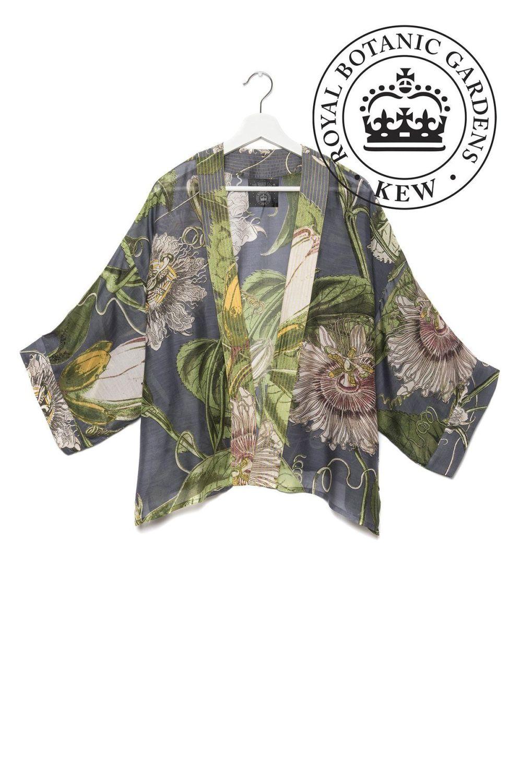 KIMONO KEW PASSION FLOWER GREY