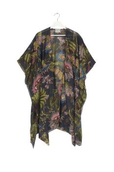 THROWOVER ECCENTRIC BLOOMS CHARCOAL