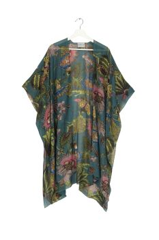 THROWOVER ECCENTRIC BLOOMS TEAL