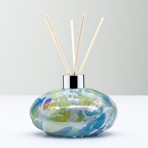 REED DIFFUSER BOTTLE - OVAL GREEN