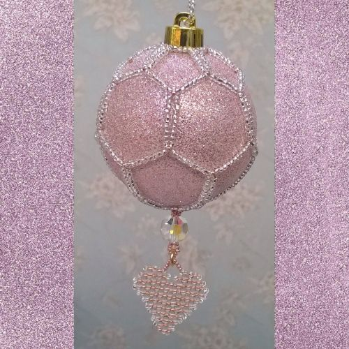 Diamond Hortensia Heart Bauble Kit