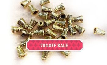 70% OFF GOLD CONE ENDS
