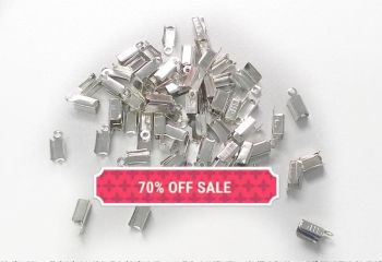 70% OFF SILVER RIBBON ENDS