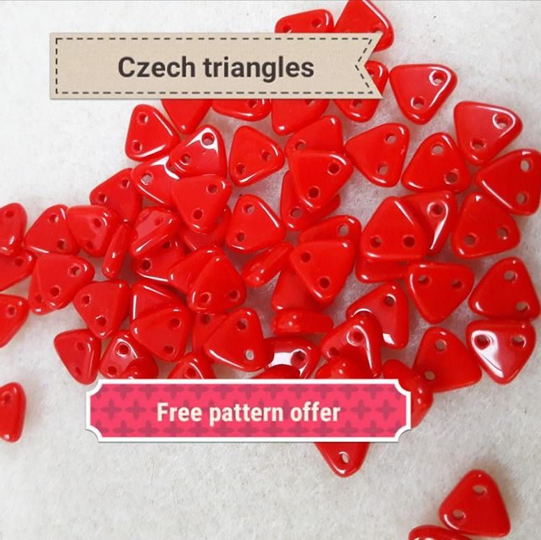 Czech Triangle beads