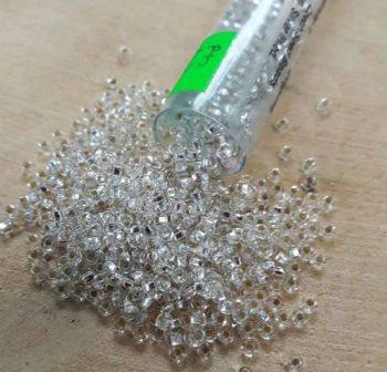 Silver lined size 10 seed beads 25g