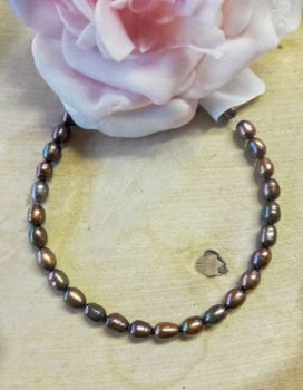 Oval Bronze Freshwater Pearls
