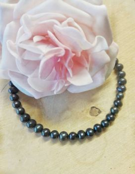 Freshwater Pearls dark blue colour