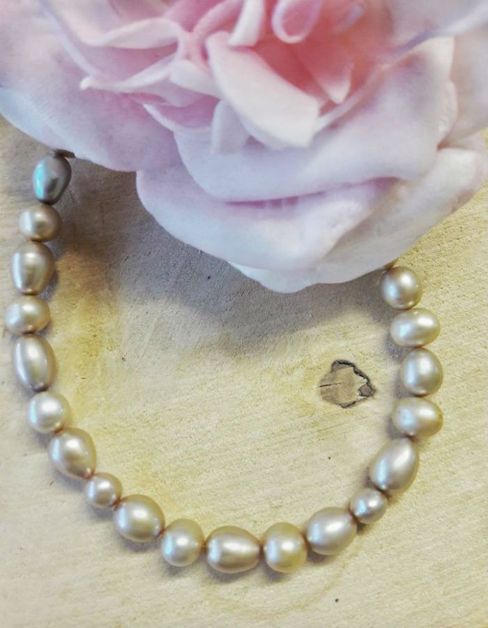 Freshwater Pearls gold colour