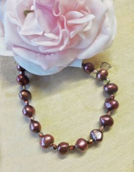 Freshwater Pearls Rustic Red colour
