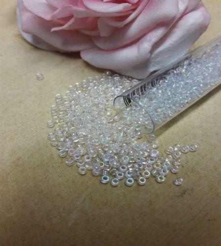 Crystal Iris size 10 seed beads 8g