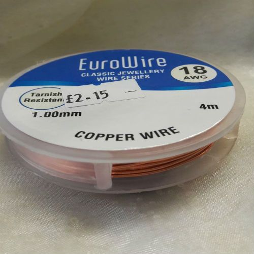 <!002--> 1mmCopper coloured wire