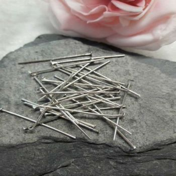 30 Short Silver Headpins