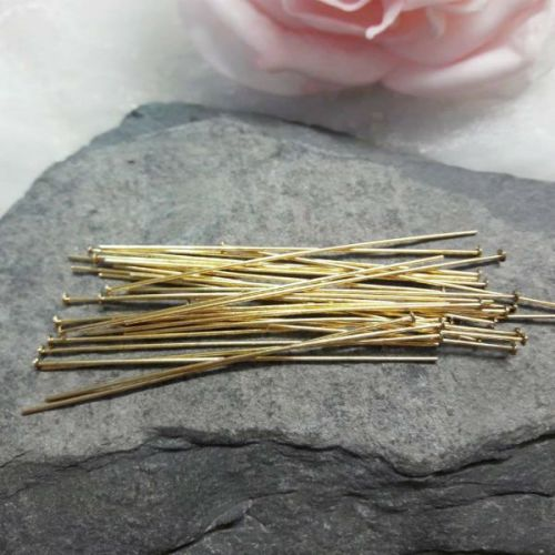 20 Gold Headpins