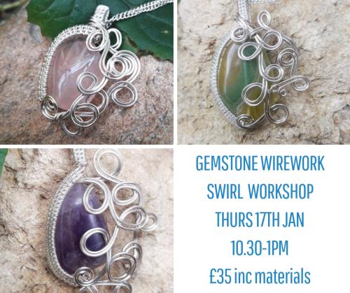 <!003--> Wirework Gemstone Pendant workshop