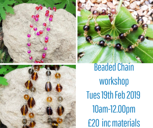 <!008--> Beaded Chain workshop
