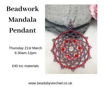 Make a beadwork Mandala Pendant