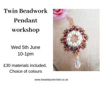 Make a twin beadwork Pendant