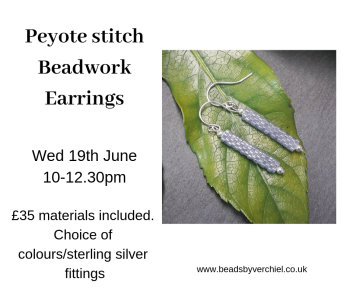 Make beadwork peyote Stitched earrings