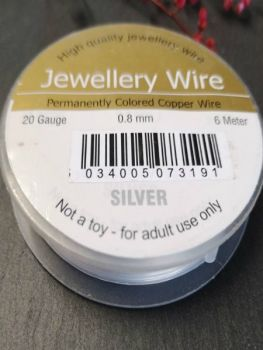 .8mm silver permanently coloured copper wire
