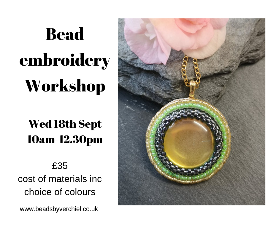 bead embroidery jewellery making workshop