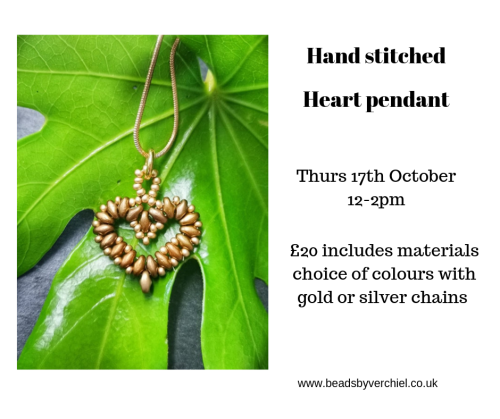 <!003-->Hand stitched Heart Pendant workshop